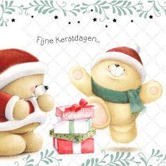 Kerstkaart - beren-met-kerstcadeaus