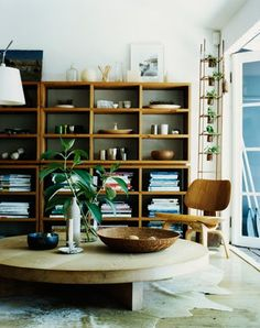 Mark Tuckey / Mikkel Vang {Scandinavian eco modern living room}. Shelving!