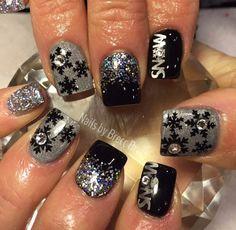 Black | Snowflakes DESIGN 1 Nail Decals | Winter Nails | Christmas Nail Art | Holiday Nails | Nail Decals | Snowflake Nail Art   Shop Nail Decals  weloveglitterdesign.com