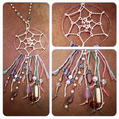 Dreamcatcher, handmade jewelry (DIY)- Check out @hippiegypsyjewelry on Instagram for more creations
