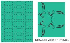 Limited Edition Peacock Stencil from @gypsymint to support #ProjectSOAR #interiors Set of 2.