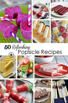 50 Refreshing Popsicles Recipes to try Ice Pop Recipes, Popsicle Recipes, Ice Cream Recipes, Dessert Recipes, Frozen Desserts, Summer Desserts, Frozen Treats, Summer Recipes, Homemade Popsicles Healthy