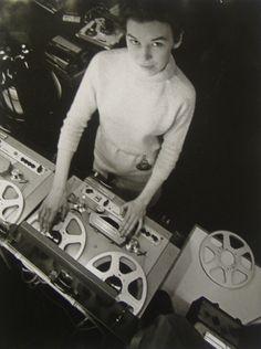 Cutting edge Studio Wizard Delia Derbyshire back in the day. R.I.P.
