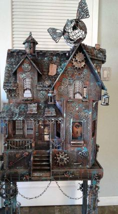 Steampunk Doll House be sure to check us out on Fb www.Facebook.com/uniqueintuitions1 #uniqueintuitions #steampunk #dollhouse