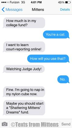 NEW Daily Mittens: The College Fund Edition More Mittens: http://textsfrommittens.com/  Order the Mittens book: http://www.amazon.com/Texts-From-Mittens-Unlimited-Afraid/dp/0373893221