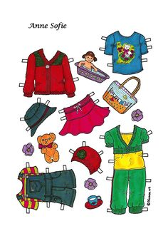 Karen`s Paper Dolls: Anne Sofie 1-4 Paper Doll to Print in Colours. Anne Sofie…