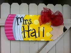 Items similar to Teacher Pencil Wooden Door Hanger Personalized Back to School on Etsy – wooden hanger Teacher Door Hangers, Teacher Doors, Wooden Door Signs, Wooden Doors, Wooden Crafts, Diy And Crafts, Kid Crafts, Creative Crafts, Burlap Door Hangers