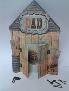 Fathers day card made using the mr Smith workshop collection from docrafts