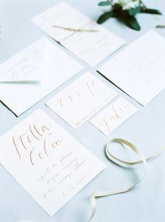 Pale Blue and Gold Urban Wedding Ideas | Wedding Sparrow | Simple Invitations