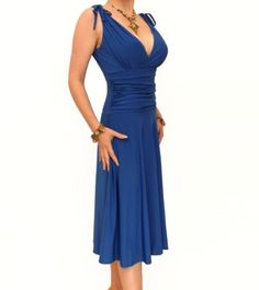 Amazon.com: Blue Banana - Grecian Slinky Dress: Clothing