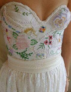Meadow Bustier Wedding Gown... whimsical boho by jadadreaming