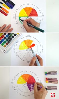 A simple and lovely color wheel project for kids featuring 3 easy art techniques… - Kunstunterricht Emotion Color Wheel, 12 Color Wheel, Primary Color Wheel, Color Wheel Lesson, Colour Wheel Theory, Paint Color Wheel, Color Wheel Projects, What Is Color Theory, Primary Colors