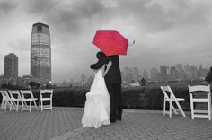 Red Umbrella Wedding
