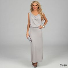 @Overstock - This elegant dress from Stanzino is stylish and easy to wear. A draped neck and a banded waist give this dress character, and the maxi length makes a feminine statement.http://www.overstock.com/Clothing-Shoes/Stanzino-Womens-Draped-Sleeveless-Maxi-Dress/7617262/product.html?CID=214117 $28.99
