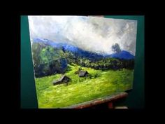 FREE! Heavy Textured Oil Painting, Landscape Part 1/3, Canvas Painting Techniques By Sergey Gusev - YouTube