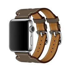 - Compatible for Apple Watch Series 2 Series 1. Inspired by equestrian fixtures, the finely worked modern Double Buckle Cuff leather is adapted to allow the heart rate sensor to stay in contact with t