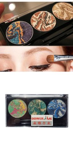 [Visit to Buy] 3 colors mix mineral baked eyeshadow palette planet eye shadow 2017 latest women fashion makeup cosmetic #Advertisement