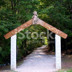 Gateway to the Riwaka Resurgence Walkway, NZ royalty-free stock photo
