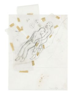 Francis Alÿs, 'Untitled' Graphite and adhesive tape on tracing paper collage 29 × 21.3 cm