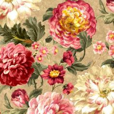 Over the rainbow: Wilmington Hope's Promise 89100 231 Tan Large Floral $9.99/yd