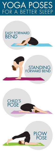 Have trouble falling asleep? 4 simple yoga poses to help you sleep turn off your brain before bed.