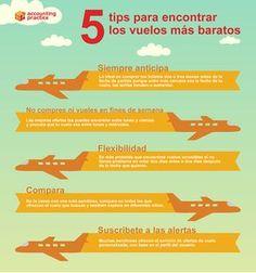 5 consejos para conseguir vuelos baratos #infografia #infographic #tourism