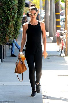 Getting zen: Lily Aldridge stopped in at a yoga studio in West Hollywood, California, on Wednesday Hollywood California, West Hollywood, Fashion Models, Fashion Outfits, Fashion Trends, Liquid Lunch, Vs Models, Lily Aldridge, All Black Outfit