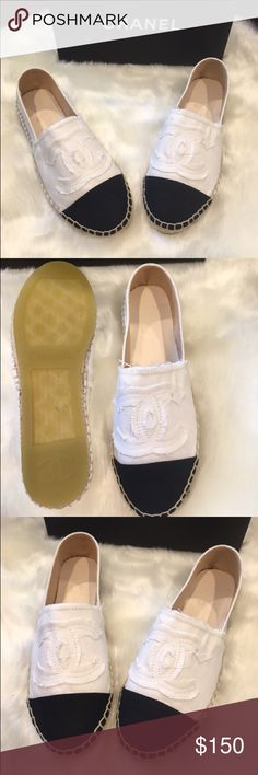 f5944a702295 Black White loafers New black and white Espadrilles. They come with box and  dust bag
