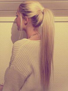 Long Hair ⭐ Blonde ⭐ Pony Tail