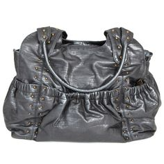 OiOi Diaper Bag Tote Silver Studded - Final Sale @Layla Grayce