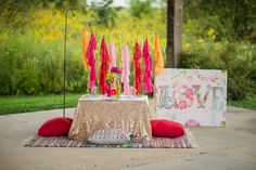 Multi Color Midi Tassel Backdrop - One Stylish Party on Etsy, $130.00
