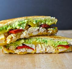 Smoked Chicken & Avocado Grilled Cheese — Creamy gooey goodness