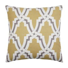Linkx Pillow i- love the citrus and pewter color combo. Just the right accent. Gonna need two! $69.95 #zgallerie