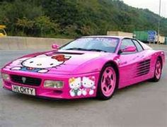 """hello kitty is taking over the world. What girls out there would drive this bad """"girl""""? :)"""