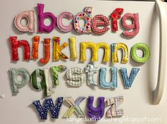 Tangled with Teaching: 123... ABC {A Plush, magnetic alphabet crafty tutorial}