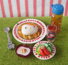 Re-ment (Rement) : Sanrio Hello Kitty Meals /  Curry Salad by HarapekoDoggyBag, via Flickr