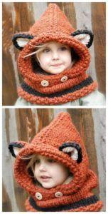 Fox Hooded Cowl Pattern