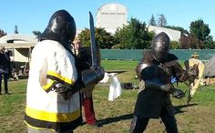 Taupo Medieval Faire 2015: Charlie is part of the HMB national medieval combat team, and gave Paul a bit of a lesson in what its all about. See the video soon.  Find out about future faires at: https://www.facebook.com/NZMedievalFaire
