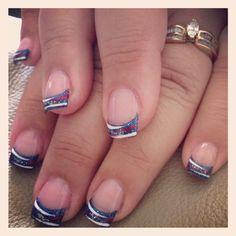 French Nail Designs, Pretty Nail Designs, Toe Nail Designs, Nails Design, Shellac Nails Fall, 4th Of July Nails, July 4th, Usa Nails, Patriotic Nails