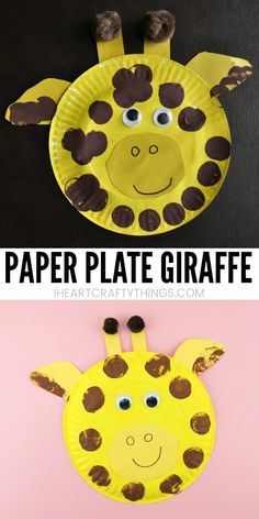 animal crafts A simple way for kids to create a paper plate giraffe craft. Fun animal crafts after visiting the zoo, summer kids craft and paper plate craft. Giraffe Crafts, Animal Crafts For Kids, Summer Crafts For Kids, Summer Kids, Dinosaur Crafts, Toddler Arts And Crafts, Baby Crafts, Toddler Activities, Crafts For Toddlers