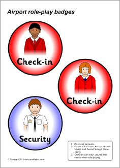 Airport Role-play Badges