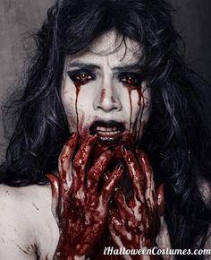 blood everywhere Halloween makeup » Halloween Costumes 2013