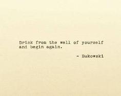 Charles Bukowski - Typed Quote - Bukowski Quote - Typewriter Quote - Cardstock