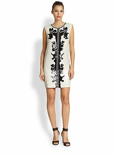 BCBGMAXAZRIA - Geri Sequin Motif Shift Dress - Saks.com