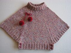 Ravelry: Poncho pattern by Phildar Design Team Ravelry photo by gitute. Pattern Poncho by Phildar Design Team., This is knit, but its basiThis is knit, but its basically an extended raglan yoke done in the round. Easy to crochet I think. Baby Knitting Patterns, Knitting For Kids, Crochet For Kids, Free Knitting, Knitting Projects, Poncho Patterns, Easy Crochet, Crochet Poncho, Knitted Shawls
