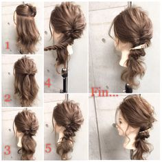 Screw screw x kururinpa OK ♡ 10 Wedding arrangements can also make you clumsy Pony Hairstyles, Pretty Hairstyles, Hair Up Styles, Hair Arrange, Hair Setting, Short Hair Updo, Love Hair, Hair Today, Hair Designs