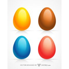 Vector Free Download, Free Vector Graphics, Backgrounds Free, Vector Design, Different Colors, Easter Eggs, 3d, Image, Vector Free
