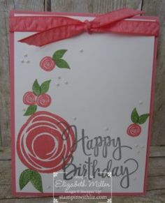 StampinWithLiz.com    Stampin Up; Stylized Birthday stamp set; Swirly Bird bundle