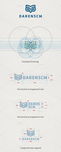 Branding for DarenSCM. This is an example of branding, but the most important thing about this post is that shows you, how a logo should be make it. Graphic Design Branding, Identity Design, Logo Branding, Typography Design, Lettering, Classic Branding, Corporate Identity, Visual Identity, Brand Identity