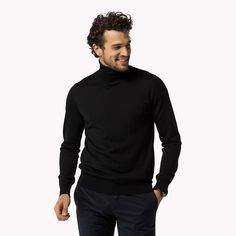 Come and read about the latest Tommy Hilfiger collections and choose your favorite line! Roll Neck Sweater, Men Sweater, Gents Fashion, Chester, Jumpers, Tommy Hilfiger, Going Out, Turtle Neck, Long Sleeve